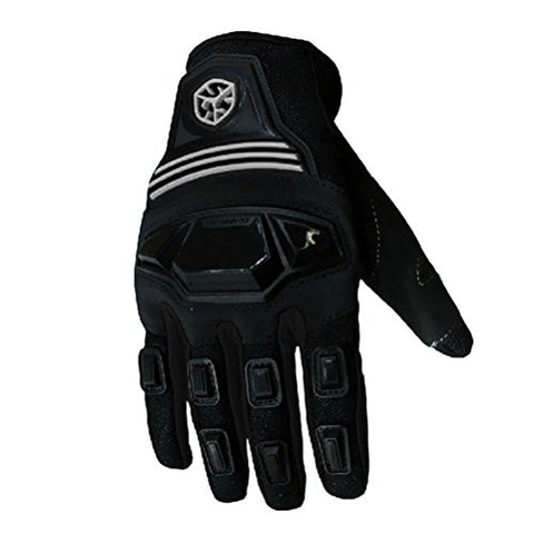 CRAZY AL'S SCOYCO MC24 Motorcycle Gloves Sports Protective Gear Shock Resistant Padded Full Finger Safety Breathable Motorcycle Gloves (M, Black) - Gasbike.net