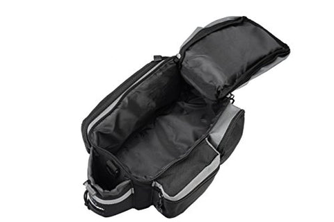 Runytek Bicycle Roswheel Rear Seat Trunk Bag Handbag Bag Pannier Black