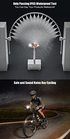 Hoicmoic USB Rechargeable Bike Lights, Bright Waterproof LED Bicycle Front and Rear Lights for Kids Men Women Safe Cycling, 1 Headlight, 1 Red Taillight and 1 White Bicycle Light for Versatile Usages