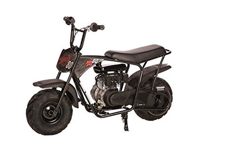 Monster Moto MM-B105-RBS Black/Red Gas Mini Bike with Front Suspension (105cc/ 3.5Hp Classic 105cc)