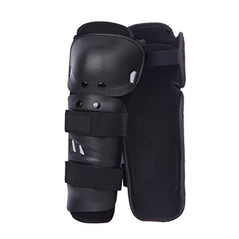Knee Shin Guards Adult Knee Pads Protector Flexible Breathable Adjustable Elbow Armor for Motorcycle Motocross Racing Mountain Bike, One size Fits Most ,4 Pieces Black