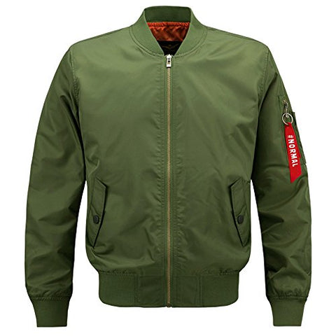 HANQIU Mens Outdoor Lightweight Army Military Flight Bomber Jackets Windbreaker