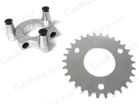 30 TOOTH CNC SPROCKET & ADAPTER ASSEMBLY - Gasbike.net