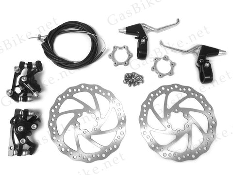 Front and Back Disc Brake Kit - 180mm - Gasbike.net