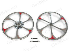 Aluminum Wheels with 44T Sprocket (Silver) (HY-27)
