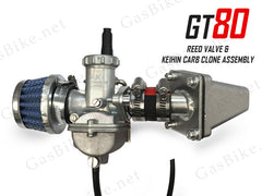 GT80 Reed Valve & Keihin Carburetor Clone Assembly