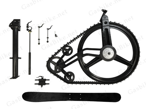 GasBike Snow Bike Conversion Kit - Ski Attachment - Gasbike.net