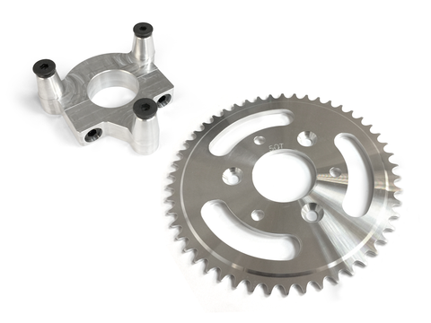 50 Tooth CNC Sprocket & Adapter Assembly - Gasbike.net