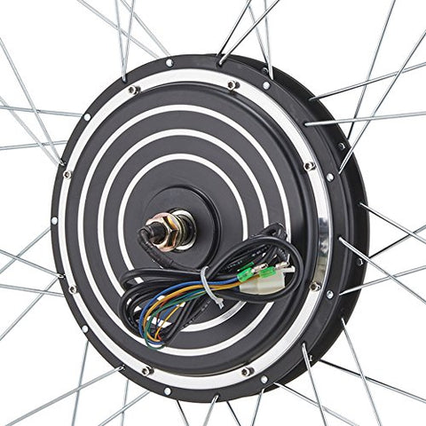 "Pinty 26""x1.8"" Front or Rear Wheel Ebike Hub Motor Conversion Kit with Dual Mode Controller, 36V 500W or 48V 1000W"