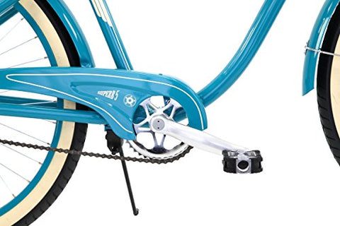 Columbia Superb 5 Star, 26-Inch Men's Retro Beach Cruiser Bike, Teal