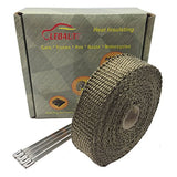 "LEDAUT 1""50' Titanium Exhaust Heat Shield Automotive Exhaust Heat Wrap Used For Exhaust Manifold Systems"