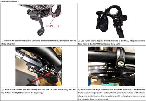 JGbike Shimano XT M8000 brake set,Hydraulic MTB Disk Brakes,Resin pad with ice tech FIN,Free MI-02(Right) clamp adapter integrator for match marker shifter - Gasbike.net