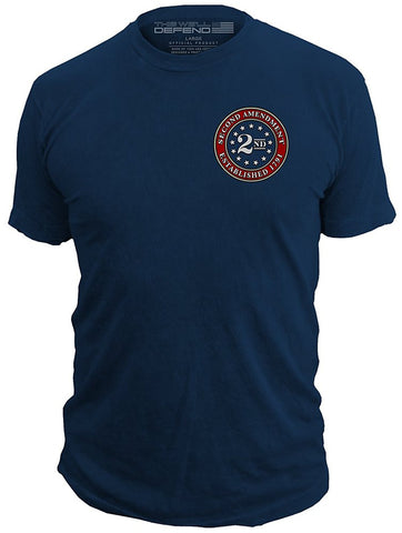 This Well Defend 2nd Amendment Brand - Seal Of 1791 - Vintage Mens T-Shirt American Flag Second 2A Made Of USA Cotton - Gasbike.net