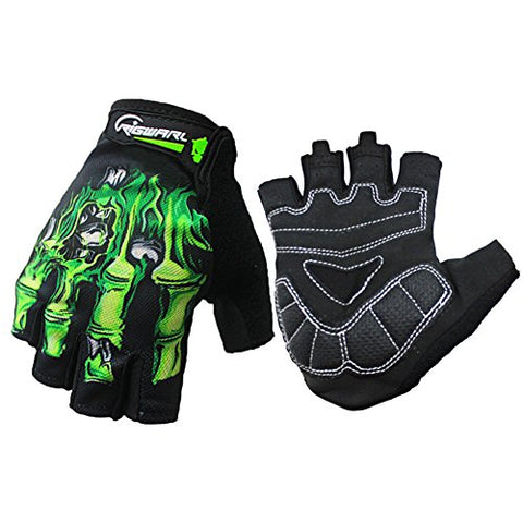 RIGWARL Cycling Gloves Mountain Bike Gloves Bicycle Riding Gloves Touchscreen Motorcycle Gloves Full Finger Workout Gloves Skeleton Gloves for Men and Women