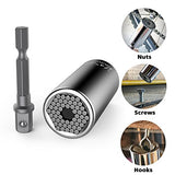 Universal Socket,Kusonkey Multi-function 7mm-19mm Universal Sockets Metric Wrench Power Drill Adapter Socket Professional Repair Tools