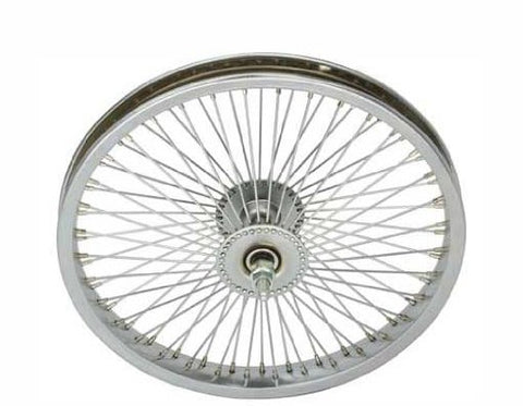 "16"" 72 Spoke Front Wheel 14G Chrome. Bicycle wheel, bike wheel, Lowrider bike wheel, lowrider bicycle wheel, chopper, cuiser, bike part, bicycle part - Gasbike.net"