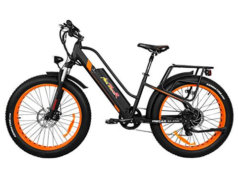 Addmotor MOTAN Electric Bicycle Step Thru Comfort Fitness Bike 26 Inch Fat Tire Full Suspension 500W Motor Mountain Electric Bike 2018 M-450 Commuter E-bike - Gasbike.net