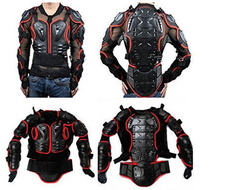 Motorcycle Full Body Armor Protector Pro Street Motocross ATV Guard Shirt Jacket with Back Protection Black 2XL - Gasbike.net