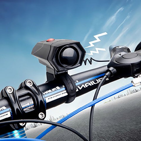 Dealpeak Ultra Loud 5 Modes Cycling Horns Bike Bicycle Handlebar Ring Bell Cycle Horn