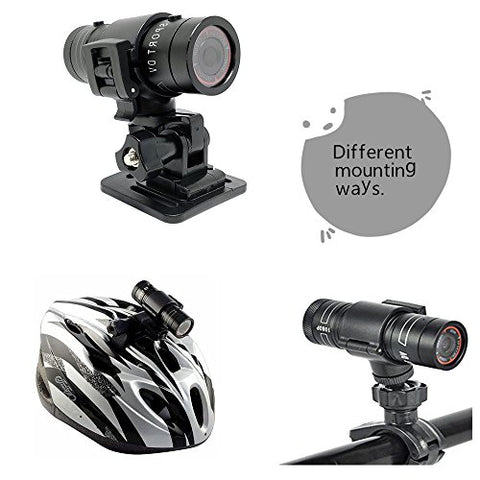 CooleedTEK Mini Sports Camera FHD 1080P Action Waterproof Video Camera Mini Metal Helmet Camera Outdoor Sports Camcorder Head Cam Bullet DV Recorder Support 32GB TF Card for Climbing Skiing Riding etc - Gasbike.net