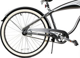 Columbia Superb 5 Star 26-inch Men's Retro Beach Cruiser Bike, Grey - Gasbike.net
