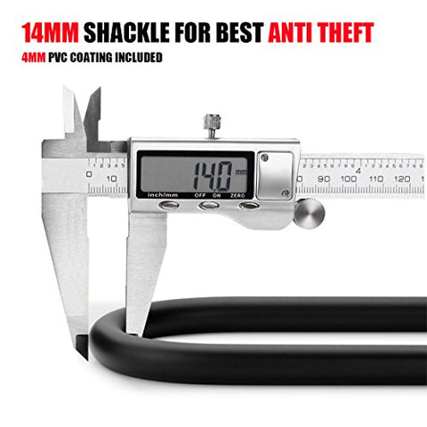 Heavy Duty Combination Bike U Lock, UShake Bike Lock Bicycle Heavy Duty Combination U Lock Bike Lock Anti Theft