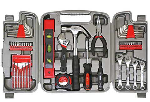 Apollo Tools DT9408 53 Piece Household Tool Set with Wrenches, Precision Screwdriver Set and Most Reached for Hand Tools in Storage Case - Gasbike.net