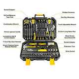 DEKOPRO 128 Pieces Tool Set--General Household Hand Tool Kit, Auto Repair Tool Set, with Plastic Toolbox Storage Case (128PCS) - Gasbike.net