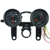 IZTOSS MPH/KMH 124MPH/ 199kmh 12000 rpm LCD Digital Speedometer Tachometer Odometer for 4 stroke 1/2/4 Cylinders Motorcycle