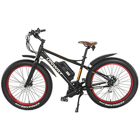 "Onway 26"" 750W 7 Speed Snow & Beach Fat Tire Electric Bike, All Terrain Using with Pedal Assist and Throttle - Gasbike.net"