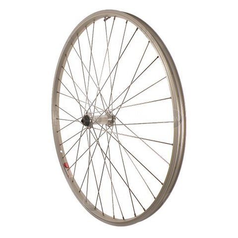 Sta-Tru Silver Alloy ATB Hub Quick Release Front Wheel (26X1.5-Inch)