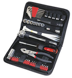 Apollo Tools DT9774 SAE Auto Tool Kit with Zippered Case, 56-Piece - Gasbike.net