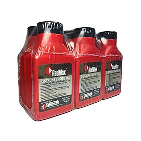 RedMax OEM MaxLife 2-Cycle Oil 2.6oz 6 Pack 1 Gallon Mix 580357201 - Gasbike.net