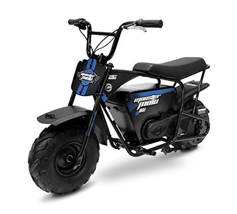Monster Moto Classic 1000 Watt Electric Mini Bike - MM-E1000-BB - Black/Blue - Gasbike.net