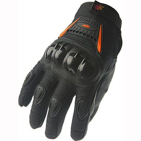 Street Bike Full Finger Motorcycle Gloves 09 (Large, black) - Gasbike.net