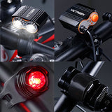Victagen Bike Front Light,Super Bright Waterproof Bicycle Headlight,USB Rechargeable 2400 Lumens Road Bike Headlamp With Tail Light,Easy To Install LED Flashlight for Cycling,Commuting,Riding - Gasbike.net