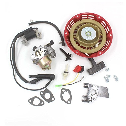 HURI Carburetor with Recoil Starter Ignition Coil for Harbor Freight  Predator 212cc 6 5HP 5 5HP