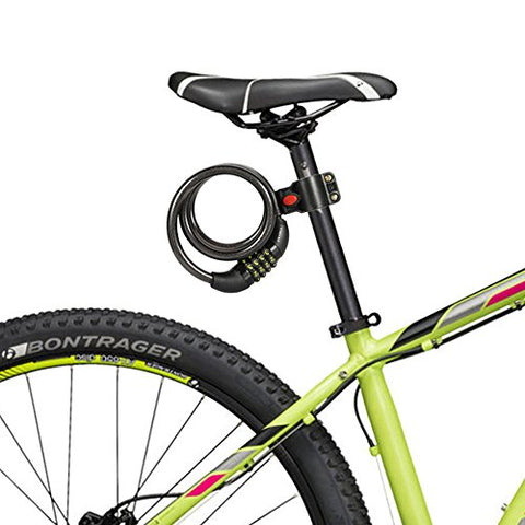 Bike Lock Cable, UShake 6-Feet Bike Cable Basic Self Coiling Resettable Combination Cable Bike Locks with Complimentary Mounting Bracket, 6 Feet x 1/2 Inch