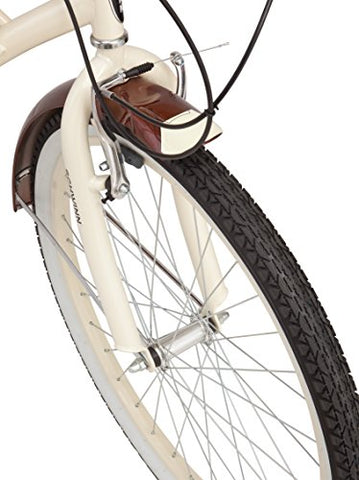 Schwinn Men's Sanctuary 7-Speed Cruiser Bicycle (26-Inch Wheels), Cream/Copper, 18 -Inch