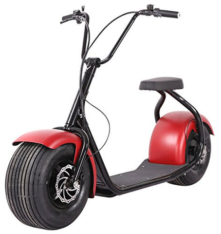SEEV-800 Electric Lifestyle Fat Tire Scooter 800w Hub Motor E-Bike Bicycle
