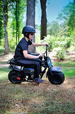 Monster Moto Classic 1000 Watt Electric Mini Bike - MM-E1000-BB - Black/Blue