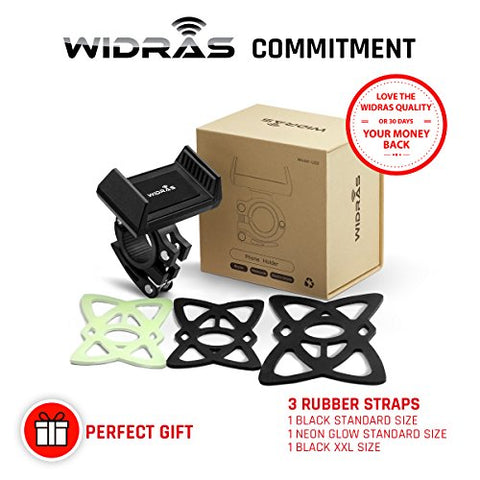 Widras New Bike Mount and Motorcycle Cell Phone Holder 2nd Generation For iPhone X 8 7 7s 6 6s 5 5s Plus Samsung Galaxy S5 S6 S7 S8 Note or any Smartphone GPS Mountain Road Bicycle Handlebar Cradle