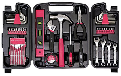 Apollo Tools DT9408 53 Piece Household Tool Set with Wrenches, Precision Screwdriver Set and Most Reached for Hand Tools in Storage Case
