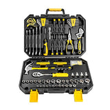 DEKOPRO 128 Pieces Tool Set--General Household Hand Tool Kit, Auto Repair Tool Set, with Plastic Toolbox Storage Case (128PCS)