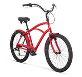 "Raleigh Bikes Retroglide 7 Men's Cruiser Bike, 26""/One Size, Red - Gasbike.net"