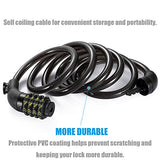 Bike Lock Cable, UShake 6-Feet Bike Cable Basic Self Coiling Resettable Combination Cable Bike Locks with Complimentary Mounting Bracket, 6 Feet x 1/2 Inch - Gasbike.net