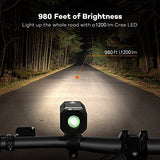 Super Bright Bike Light USB Rechargeable, Te-Rich 1200 Lumens Waterproof Road / Mountain Bicycle Headlight and LED Taillight Set with 4400 mAh Battery - Gasbike.net