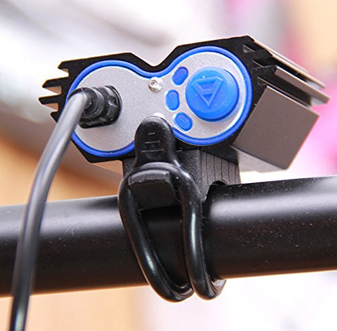 Nestling X2 CREE XM-L U2 LED Rechargeable Waterproof 2000Lm Black Bicycle Bike light headlamp + 1x Free 5 LED tail light with Install Holder + Charger Battery - Gasbike.net