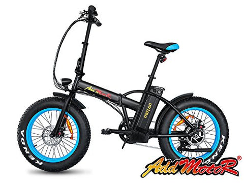 Addmotor Motan Electric Fat Tire 20Inch Bikes 500w 48v Snow Folding Bicycles Lithium Battery 4 Colors M-150 E-bikes For Men - Gasbike.net