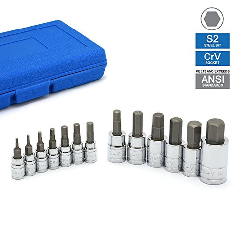 Neiko 10074A Hex Bit Socket Set, S2 Steel | 13-Piece Set | Metric - Gasbike.net